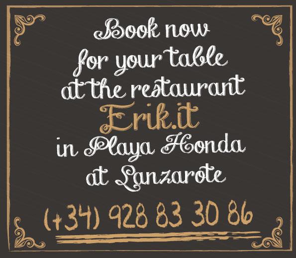 Contact Pizzeria Restaurant Erik.it Lanzarote