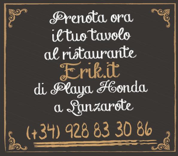 Contatto Pizzeria Ristorante Eril.it Lanzarote