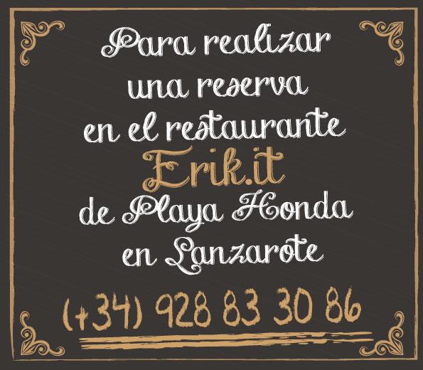 Contacto Pizzeria Restaurante Erik.it Lanzarote